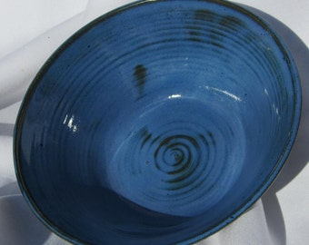 Bowl in Beautiful Blue on Porcelain Clay - Handmade Pottery