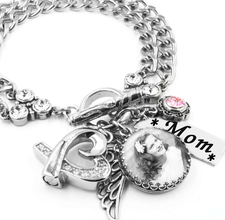 Customized Charm Bracelet: Memorial Bracelet Cremation Bracelet Personalized Photo