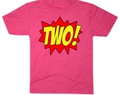 Kids Superhero 2nd Birthday T-Shirt - Hot Pink