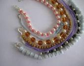 """Handstrung summer fun Bracelets, 7"""" costume bracelets, Labor Day Celebration Sale"""