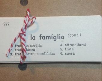 Italian Vocabulary Cards