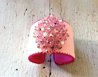 """In the Pink Adjustable 1 3/4"""" Cuff Bracelet"""