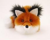 Rupert Rusty Red Fox Stuffed Animal Cute Fox Plush Toy Kawaii Plushie Holiday Gift Fluffy Faux Fur Toy Large Woodland Fox Softie 6x10 Inches