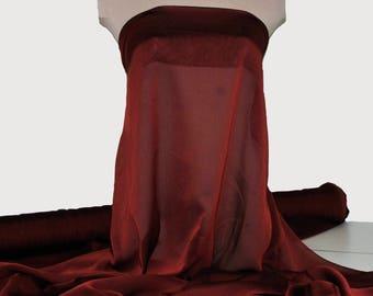 "Red/Black  iridescent chiffon 60""  ...1 yard... formal, wedding, curtains, crafts, bridesmaid dress.. flower girl dress.."