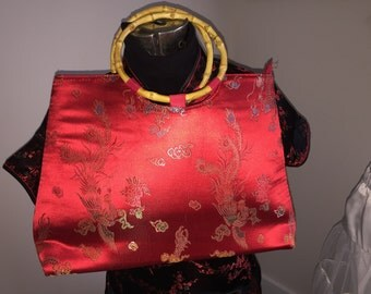 Vintage Chinese Silk Hand Bag