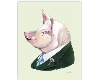 Pig print 5x7