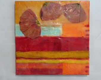 Mixed-media encaustic collage no. 16.