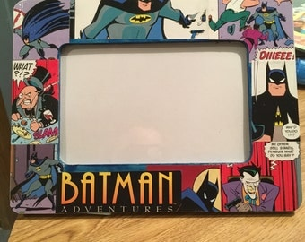 batman the animated series comic themed decoupage 4x6 picture frame