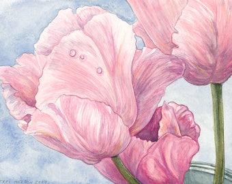 Tulips Original Watercolor Painting