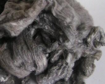 Mawata Silk Hankies Hand Painted SHADES of GRAY Knitpack 42 grams Silk Hanky  Knit Spin Felt Fusion Crafts