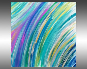 Abstract Feathers 3 -Art Painting Original Abstract Modern Art Painting, Acrylic Canvas Wall Art, Contemporary Art, Texture