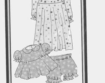 """My Twinn Dolls Sewing Pattern No. 74504 Summer & Winter PJs Original Doll Clothes Sewing Pattern for 23"""" Doll   Morrissey Co 2001 UNCUT"""