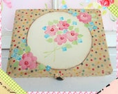 Sewing Box, Much Loved, Vintage Shabby Chic Handpainted Storage  Box, Upcycled Sewing Box, Refurbished Vintage Box