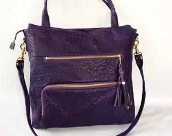 Willow bag in plum