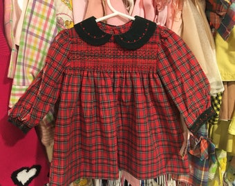 NWT 80s Smocked Dress 9/12 Months