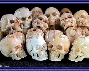 Skull Bead Individually Hand-carved From Water Buffalo Bone