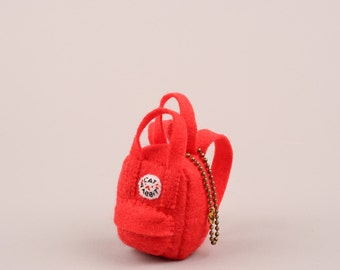 Mini Felt Backpack Charm (for your Backpack) **Made to Order**