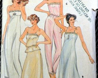 Vintage 1970's Sewing Pattern Butterick 3434 Misses' Lingerie  Bust 36   Complete