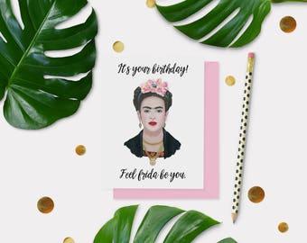 Frida Kahlo Birthday Card - Birthday Card Card - Blank Card - Friendship Card - Everyday Card - Celebrity Card - Funny Card - Art Card