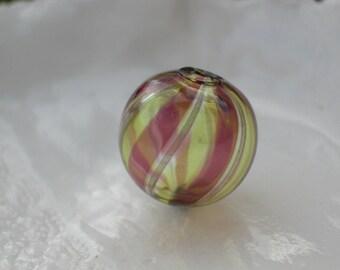Venetian Murano Round Blown Glass Bead