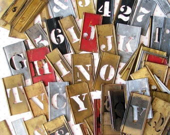 Mark It Up...Lot of Aged Vintage Stencils
