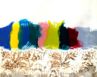 original encaustic painting-  Color Hill