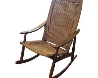 Vintage Mid-Century Rocking Chair