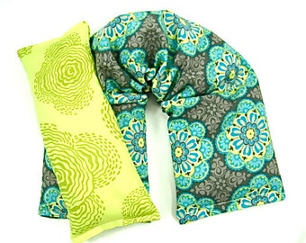 Therapy Pack: Neck Wrap Eye Pillow Set, Hot Cold Therapy, Durabal Comfort Natural Healing,Microwave Heat Pad, Gift Guide