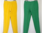 SPRING SALE/ 20% off Vintage 50s High Waisted Silk Cigarette Trousers (size xs, small)