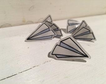 Paper Plane Pins