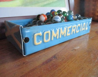 """New Jersey """"Commercial"""" License Plate Box - Rustic Treasure Tray - Storage Box - Planter - FREE SHIPPING - Upcycled Box"""