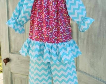 Pink and Turquoise Christmas set ready to ship