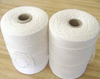 2 Tubes 8/4 cotton/polyester rag rug weaving warp String Yarn