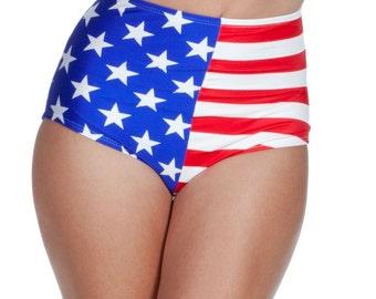 Hope Bikini Bottom in Stars and Stripes