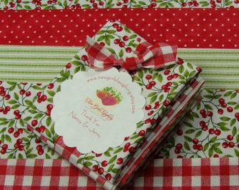 Fat Sixteenths Fabric Bundle | Stash Builder | Quilt Quality Cotton | Moda Fabric | Penny Rose Fabric | Tiny Prints | Red Green White Prints