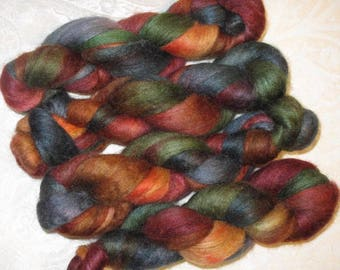 Handpainted Roving -- BFL Wool/Silk
