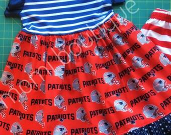 New England Patriots football dress Momi boutique custom dress