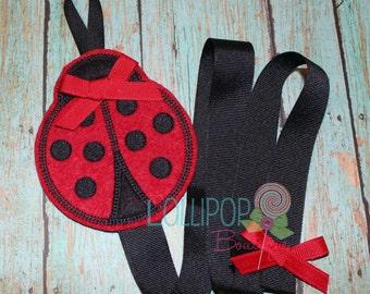Red and Black Ladybug Felt Bow Holder, Felt Bow Holder, Bow Holder, Clippie Keeper