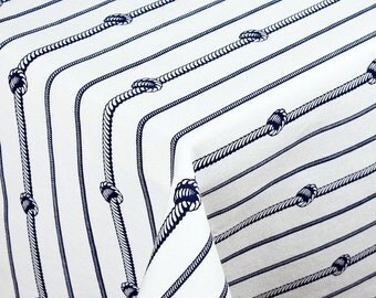 "SQUARE -  Handmade Tablecloth - 68"" x 68"" - 170 cm x 170 cm - NAUTICAL KNOTS"