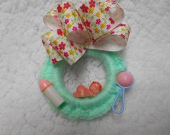 Baby Shower Corsage bébé vert fabriqué à la main ou sur mesure fera n'importe quelle couleur