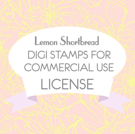 Commercial Use License for Digital Stamps (Add-on) - Digi Scrapbooking Clip Art, Line Graphics Download