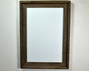 eco friendly poster frame from reclaimed wood 12x18 with glass free shipping