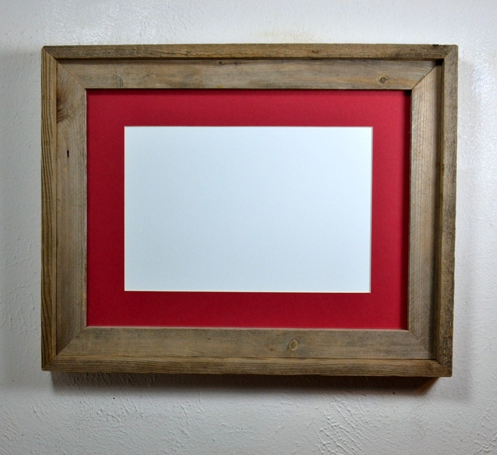 12x16 Frame From Reclaimed Wood With Mat For 9x12 Or 8x12 Free