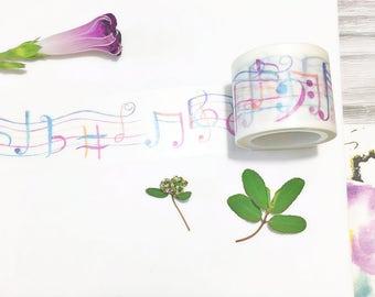 Dancing Music Notes Washi Tape