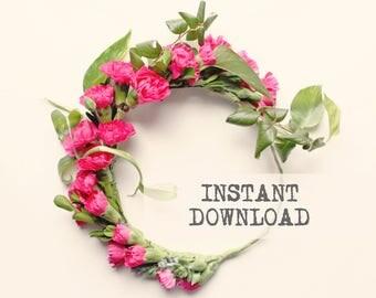 DIY Flower Crown - DOWNLOAD - Instruction sheet only
