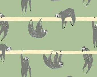 Dear Stella Pura Vida Hanging Around Sloth Fern Fabric