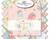 "10"" Stacker Complete Collection BUNNIES & CREAM by Lauren Nash for Penny Rose Fabrics 18 Cuts"