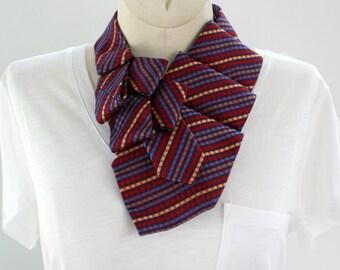 Statement Necklace - Necktie Necklace - Womens Necktie - Upcycled Tie -  Memoriam Gift - Work Wear - Multi Colored Necktie. 10