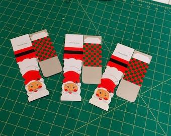 Vintage Santa Christmas Small Gift Boxes Gift Wrapping Ephemera