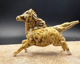 ash and wind horse - flying porcelain horse - original art